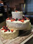 Red Velvet Cake with Fresh Berries and Cream Cheese Frosting